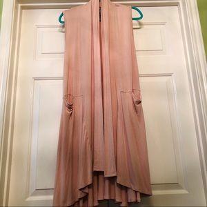 Agnes & Dora Light Pink Vest Duster • Size XS